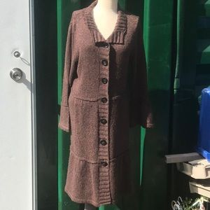 Fever long chunky button sweater